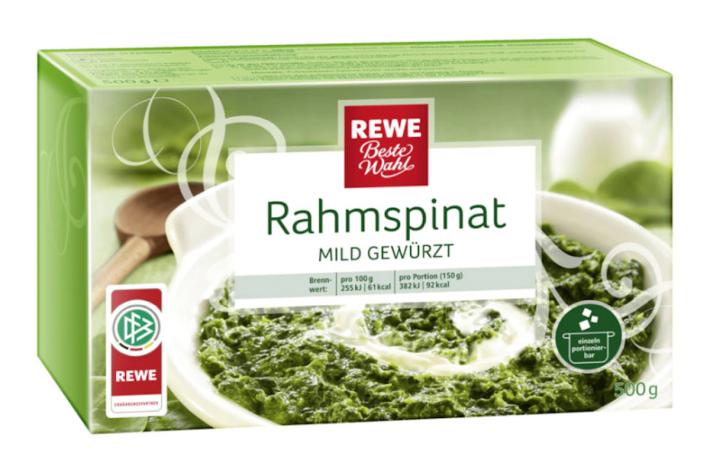 """""""REWE Beste Wahl, Rahmspinat portioniert mild gewürzt"""""""