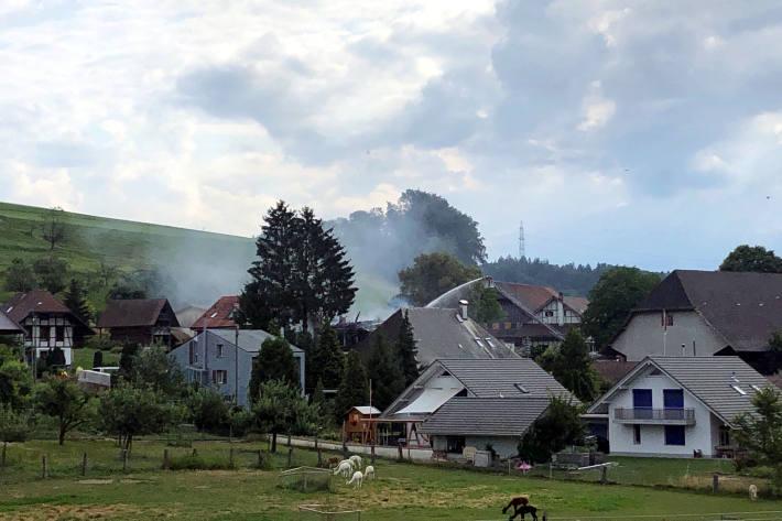 Bauernhaus in Alchenstorf BE in Brand geraten