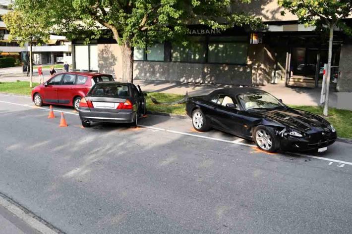 In Chur ist es zu einer Kollision mit drei Fahrzeugen gekommen