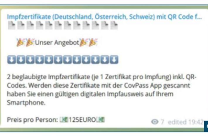 Screenshot Angebot Zertifikat.