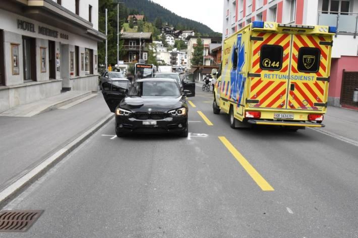 In Davos GR wurde gestern ein Kind angefahren und verletzt.
