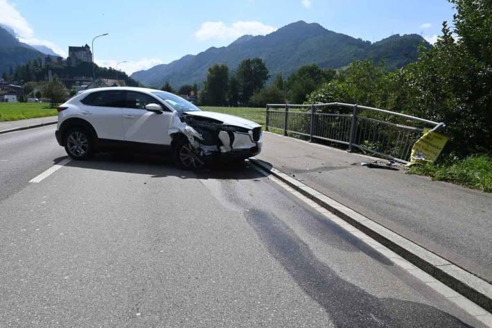 Selbstunfall mit Auto in Balzers
