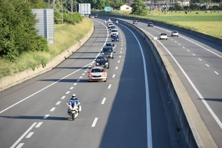 In Martinach wurden die Fahrenden eskortiert.