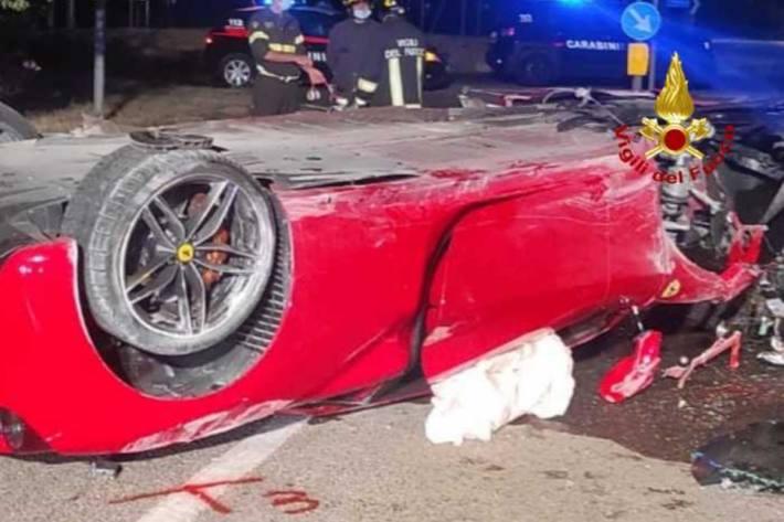 Ein heftiger Unfall ereignete sich heute morgen früh auf Sardinien in Cagliari.