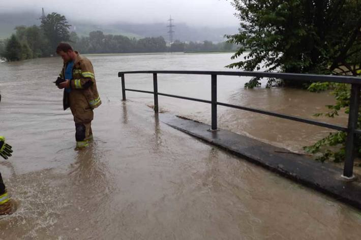 Hochwasser im Bezirk Schwaz