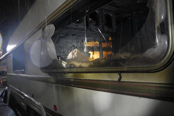 Wohnmobil bei Brand zerstört in Siebnen