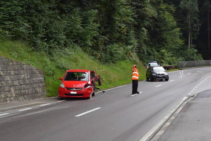 Unfallsituation in Wolfhalden am Freitag