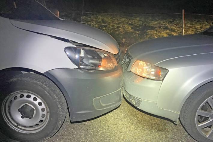 In Pfyn TG ist gestern ein Auto auf die Gegenfahrbahn geraten