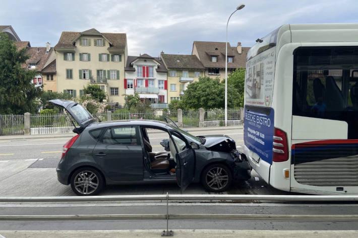 Unfallsituation in Zofingen