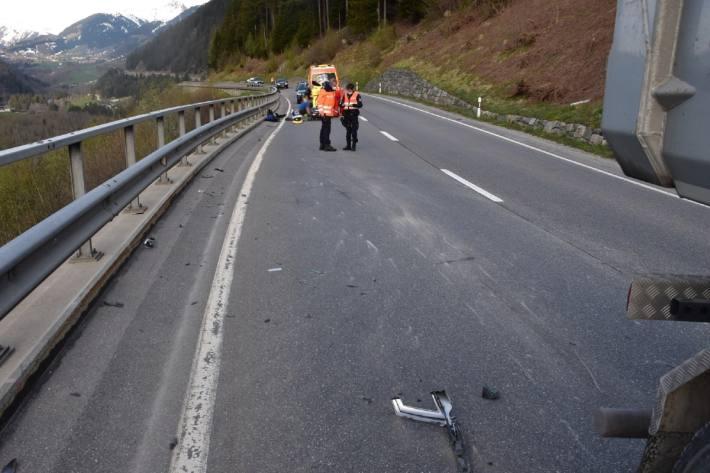 In Sumvitg GR verletzte sich ein Mann nach einem Unfall.
