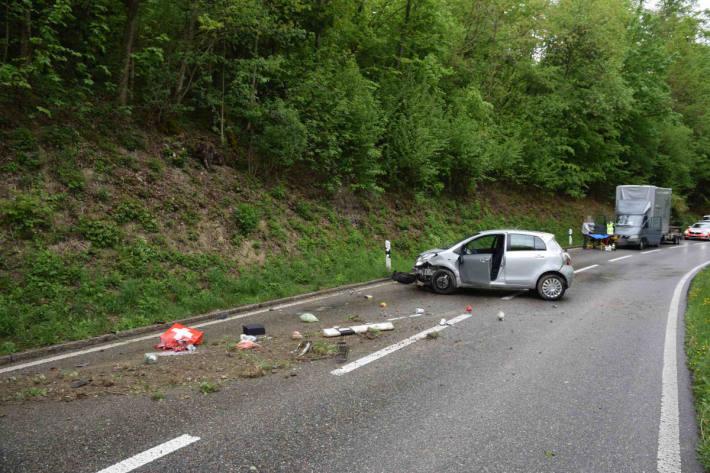 Unfallsituation in Schnottwil