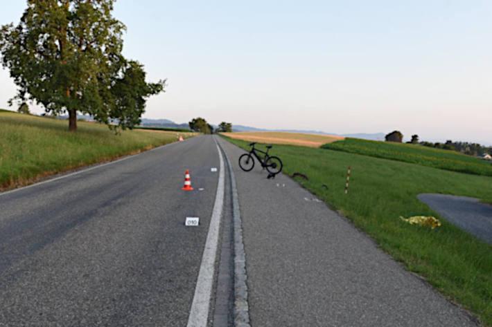 Unfallstelle in Wädenswil