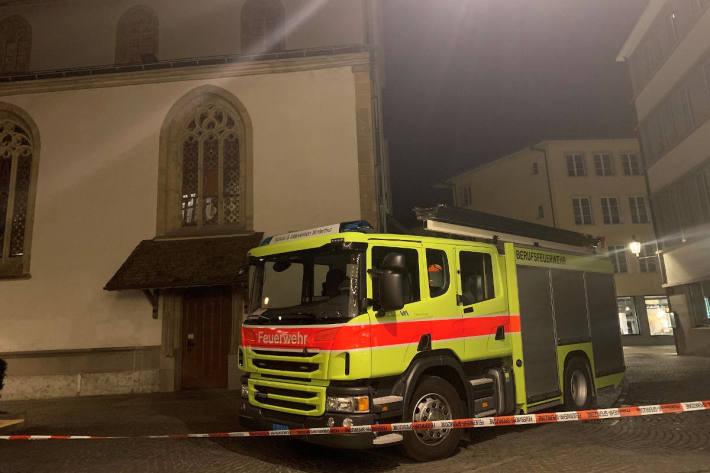 Brand in Stadtkirche glimpflich ausgegangen in Winterthur