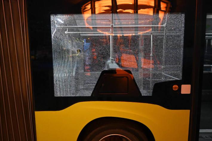 Gegenstände in und gegen Bus geworfen in Schaan