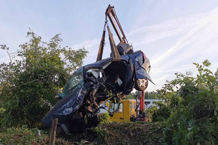 Schwerer Unfall in Langenstein