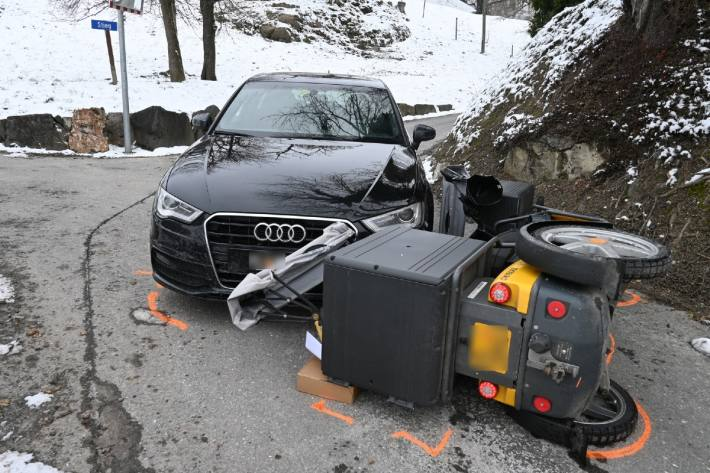 In Eschen FL verletzte sich heute eine frau beim Unfall.
