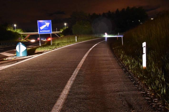 Nach Unfall geflüchtet auf der A1 bei Wil