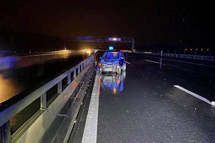 Unfallstelle auf der A4 bei Cham