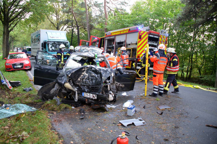 45-jähriger Autofahrer bei Unfall schwer verletzt