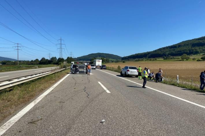In Möhlin AG ereignete sich gestern ein schwerer Vekrehrsunfall.