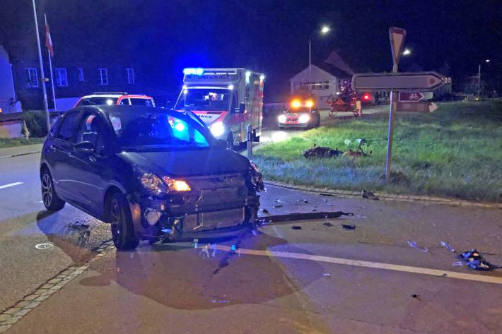 Der Motorradfahrer wurde in Tägerwilen schwer verletzt