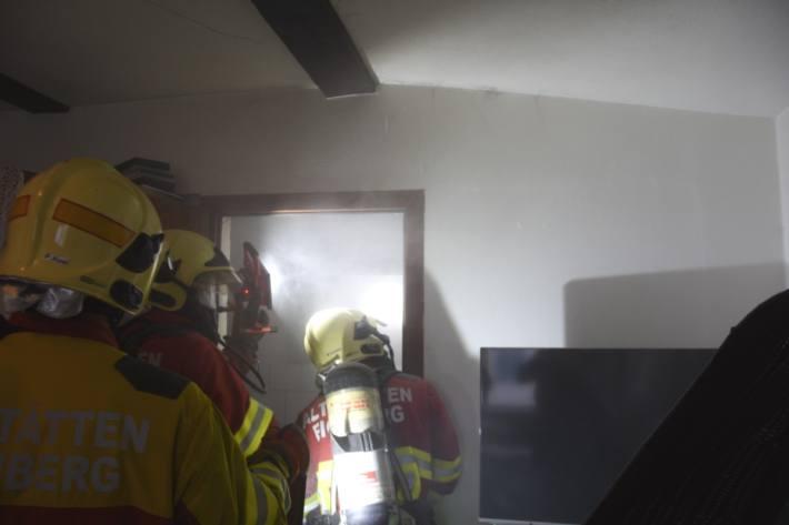 Es brannte gestern in einem Badezimmer in Altstätten.