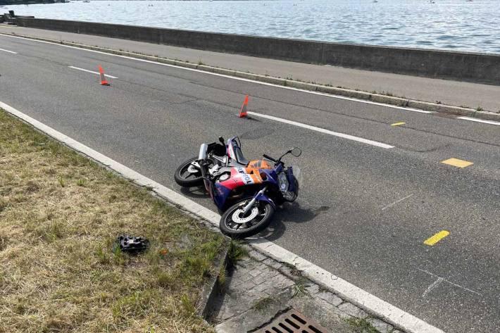Der Motorradfahrer wurde in Steckborn leicht verletzt