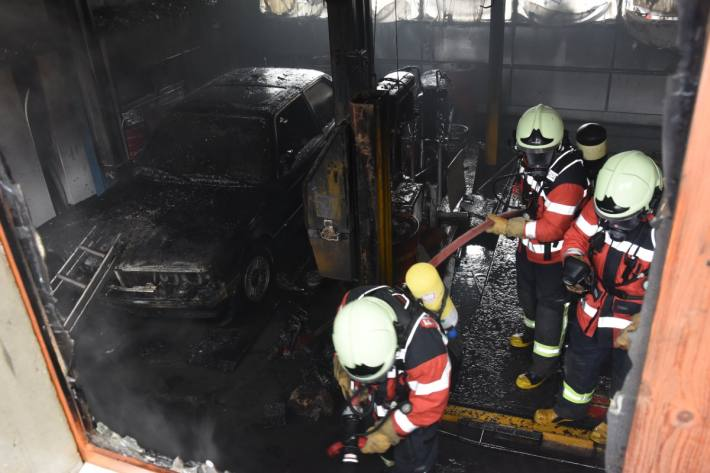 In Muolen SG brannte es gestern in einer Werkstatt.