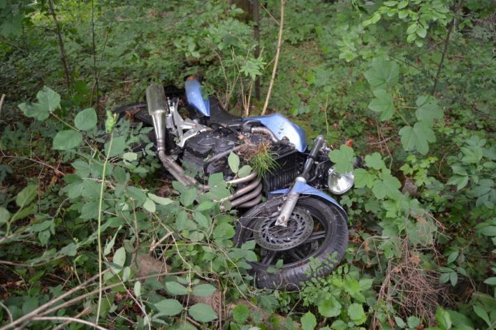 In Speicher AR ist ein Motorradfahrer verunfallt.