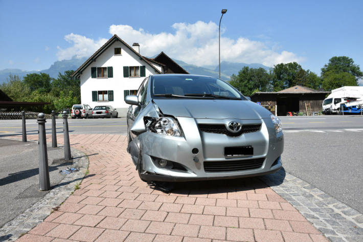 Selbstunfall in Vaduz