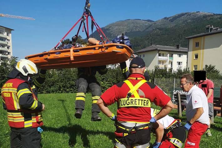 Unfall auf Baustelle in Bad Ischl