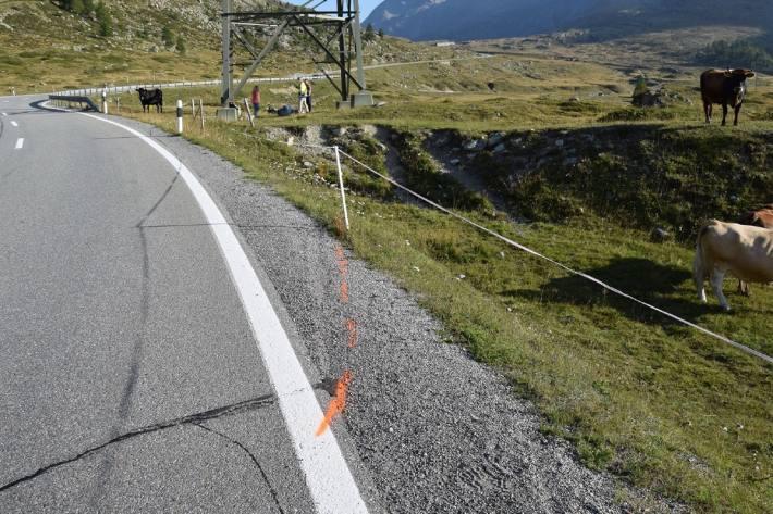 Der Motorradlenker verunfallte gestern bei Pontresina GR.