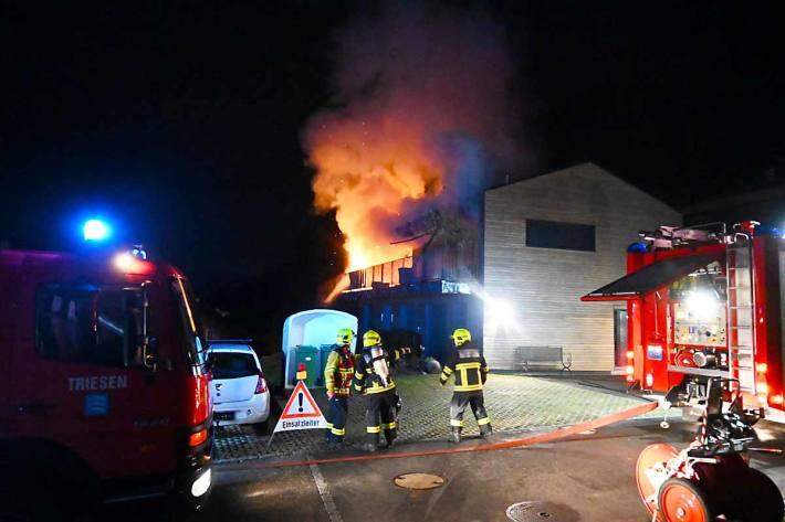 Die ausgerückte Feuerwehr Triesen konnte das Feuer schnell unter Kontrolle bringen