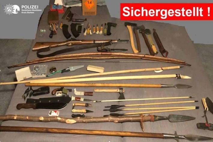 Sichergestellte Gegenstände in Isselburg