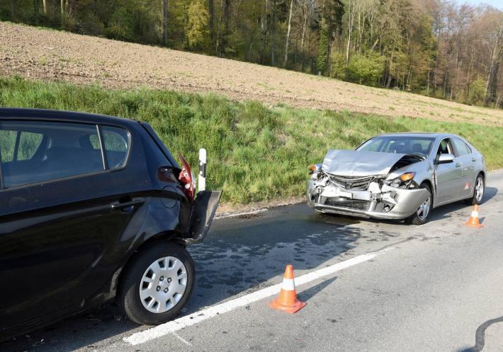 Beim Unfall in Mauensee Lu wurden gestern sieben Personen verletzt.