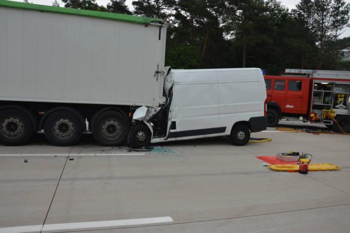 Unfallort auf der A7 bei Wedemark