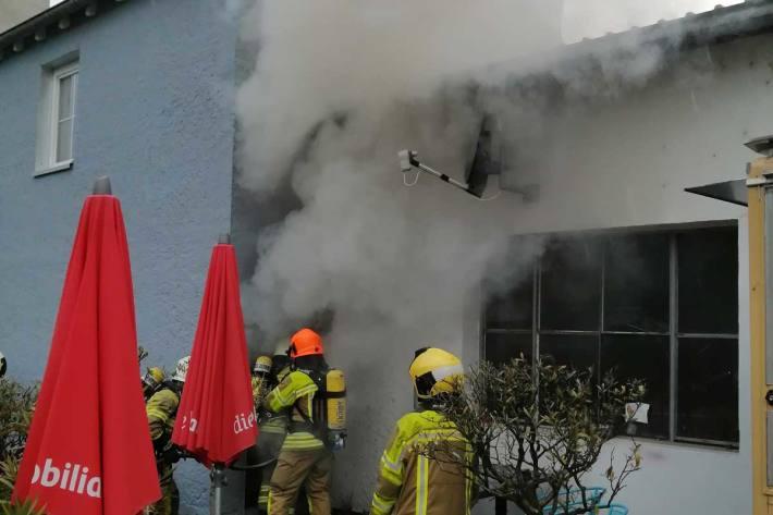 Gestern brach in Döttingen einen Brand aus