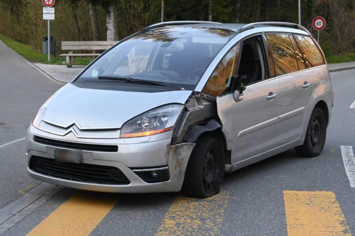 Am Unfall in Schellenberg beteiligtes Fahrzeug