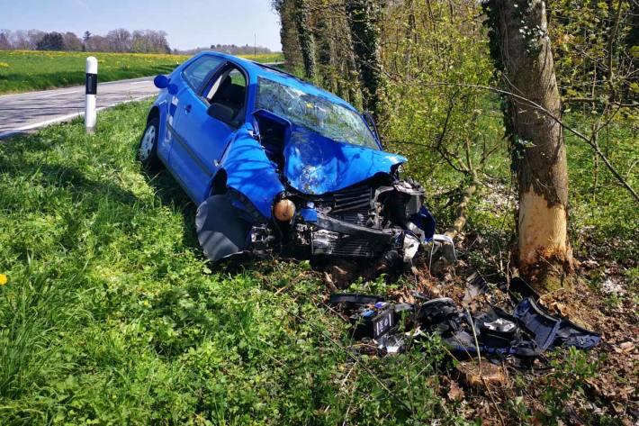 Die Autofahrerin musste ins Spital In Engwilen gebracht werden