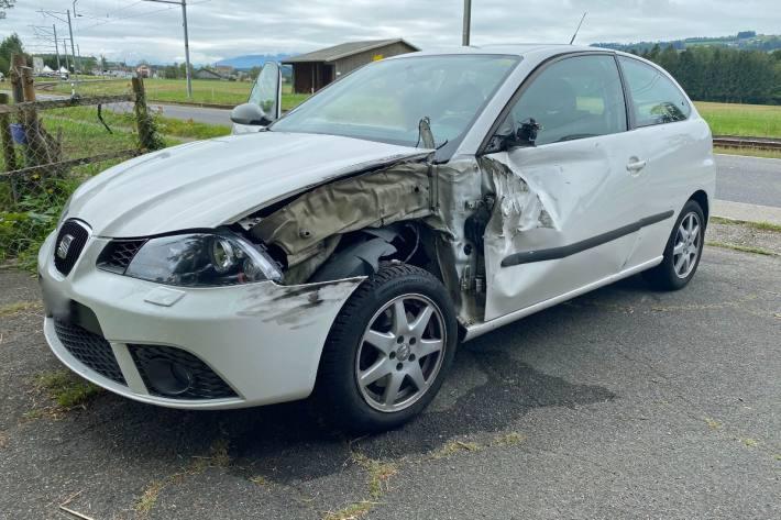 Die Autolenkerin verletzte sich leicht.