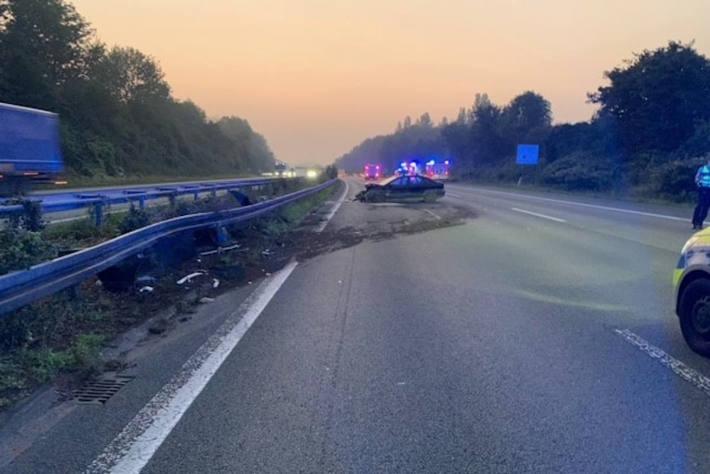 Verkehrsunfall auf der A2 Richtung Hannover