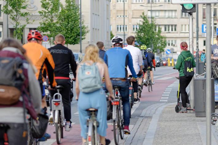 Symbolbild – Radfahren in der Stadt