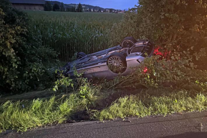 Unfall in Schenkon
