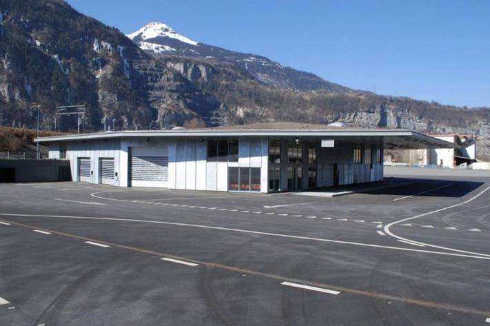 Schwerverkehrskontrollzentrum von Saint Maurice
