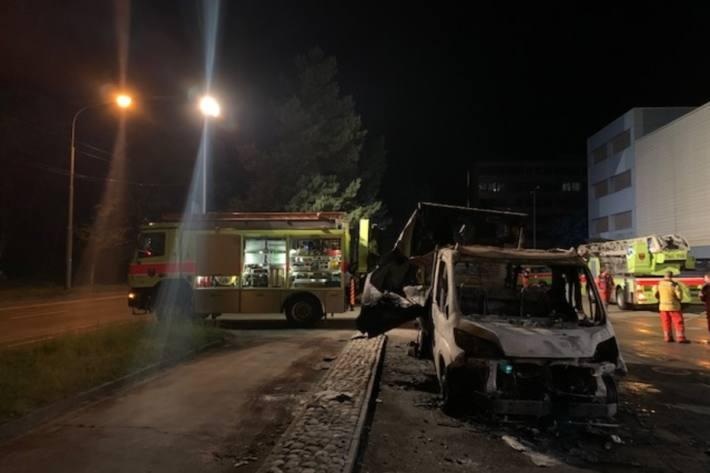 In Winterthur-Grüze wurde heute Nacht Brandstiftung ausgeübt.