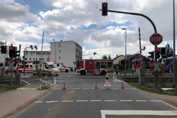 Verkehrsunfall mit zwei verletzten Personen in Worms-Pfeddersheim