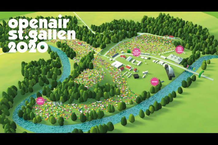 Geländeplan OpenAir St. Gallen 2020