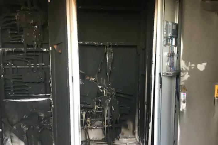 Brand im Technikraum.