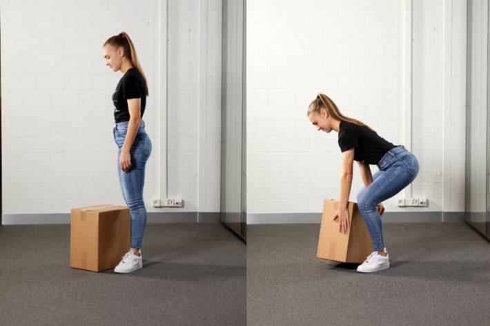 Der Ergonomie-Experte gibt vier Tipps, wie man schwere Pakete gekonnt in die eigene Stube bringt oder eine Treppe hochträgt