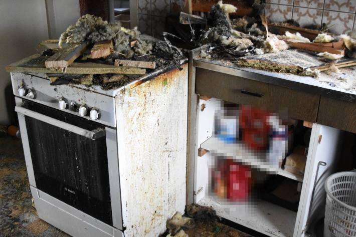 In Kobelwald SG brannte gestern eine Küche.